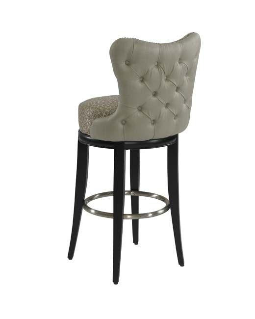 Simi 03 604 30 Swivel Dining Stool With Tufted Outside