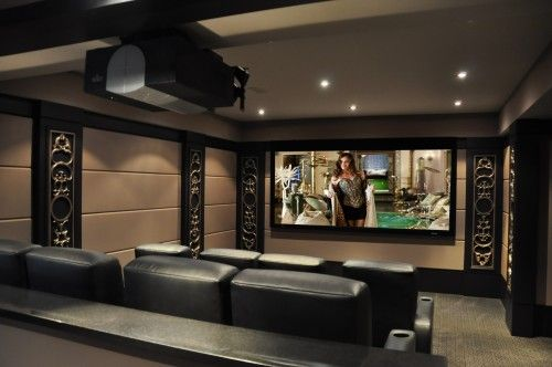 Cinema room ~ Oh yes! We definetly need that! But wouldn\'t use ...
