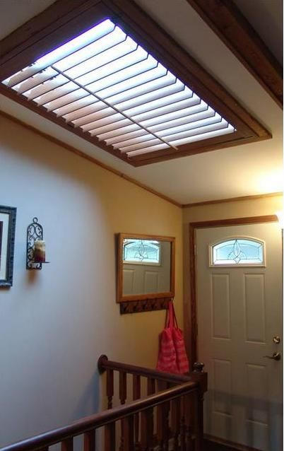 Genial Shutter Skylight Matched The Wood Trim Complimenting This Interior. Budget  Blinds Serving The Crow River Area In Minnesota.