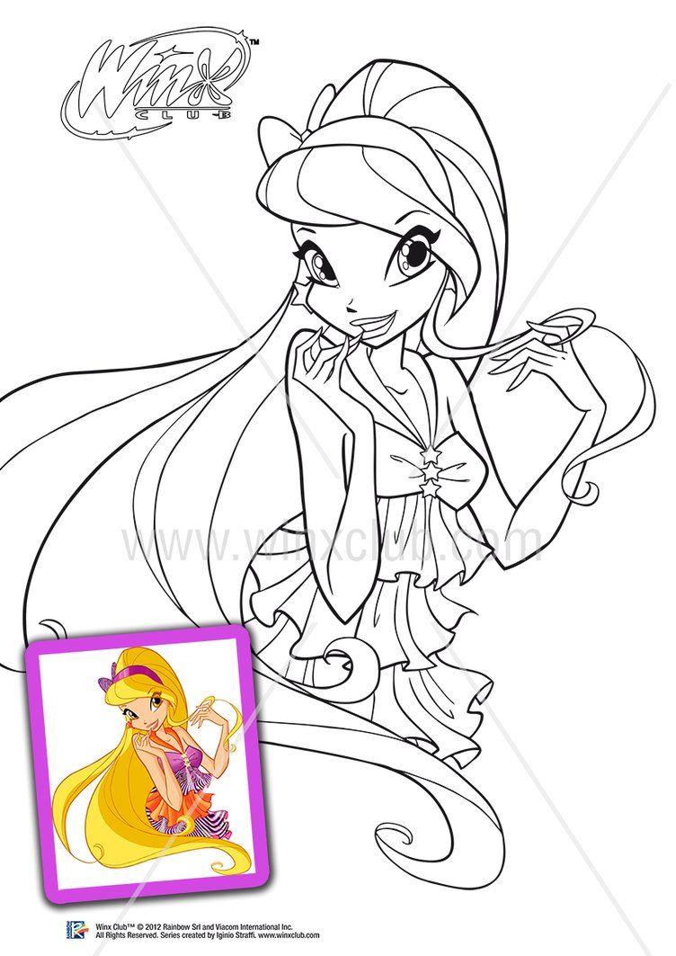 Stella 5 Season By Lorelai19 Cartoon Coloring Pages Coloring