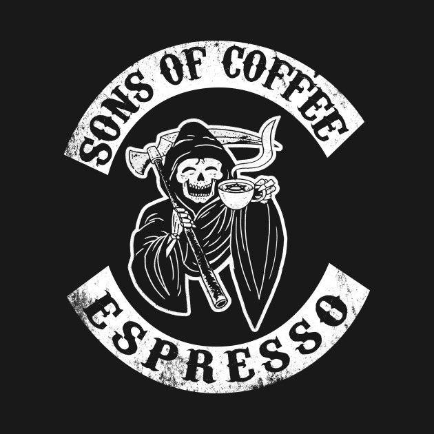 Sons Of Coffee By Boggsnicolas Coffee Art Sons Of Anarchy Skeleton Art