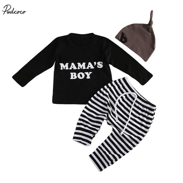 3pcs Baby Boy Kids outfits Hat+Romper+Pants Jumpsuit Outfit Set boys Clothes