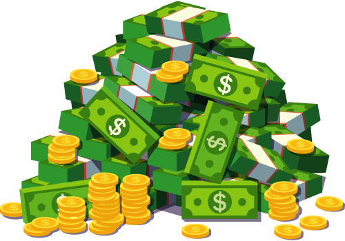 An Illustration Of A Pile Of Money Money Icons Game Item Game Assets