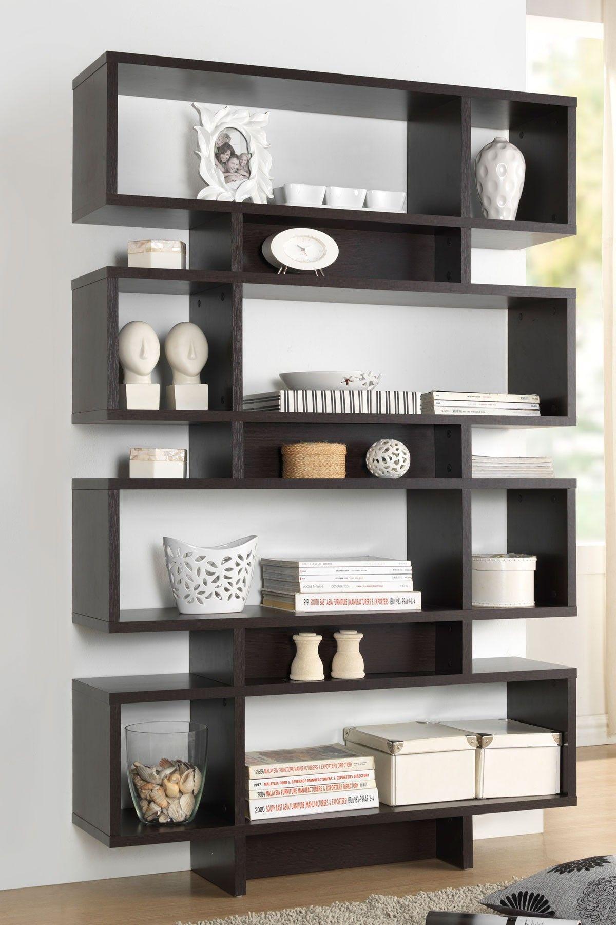 Tokyo Dark Brown Storage Shelf