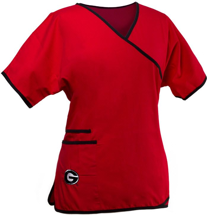 8ff74bb4e0a Georgia Bulldogs Mock Wrap Scrubs For Women | University of Georgia ...