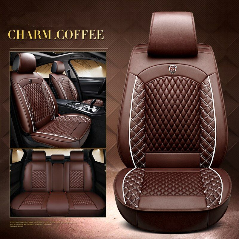 2018 Luxury Pu Leather Auto Universal Car Seat Cover Automobile Seat Cover For Audi Tt Q A1 A3 A4 A6 A7 A Leather Car Seat Covers Car Seats Leather Car Seats