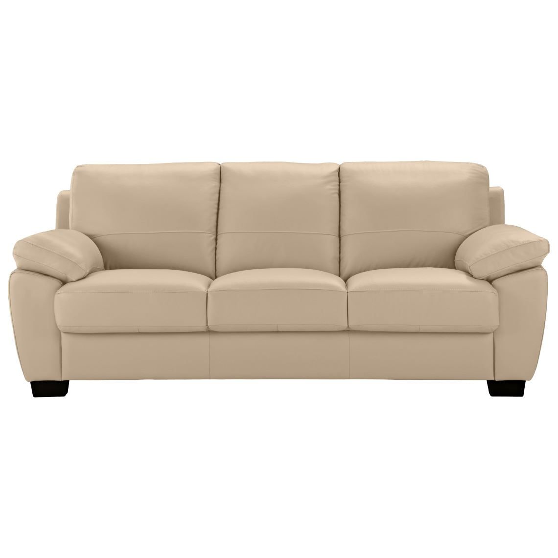 Lucas 3 Seat Leather Sofa Bisque in 2019 | Products | Sofa, Leather ...