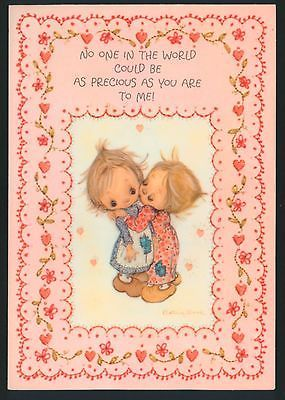 """Betsey clark...""""you are precious to me"""" kiss,valentine's day,embos greeting card"""