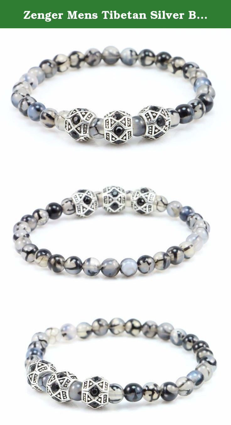 Zenger Mens Tibetan Silver Beads with Dragon Vein Beads Bracelet Crafted in NY. If you are not satisfied with my products for whatever reasons, you can return it within 30 days for a full refund. I would really appreciate it you can send me an email before you return it. I will try my best to resolve any issues that you might have.