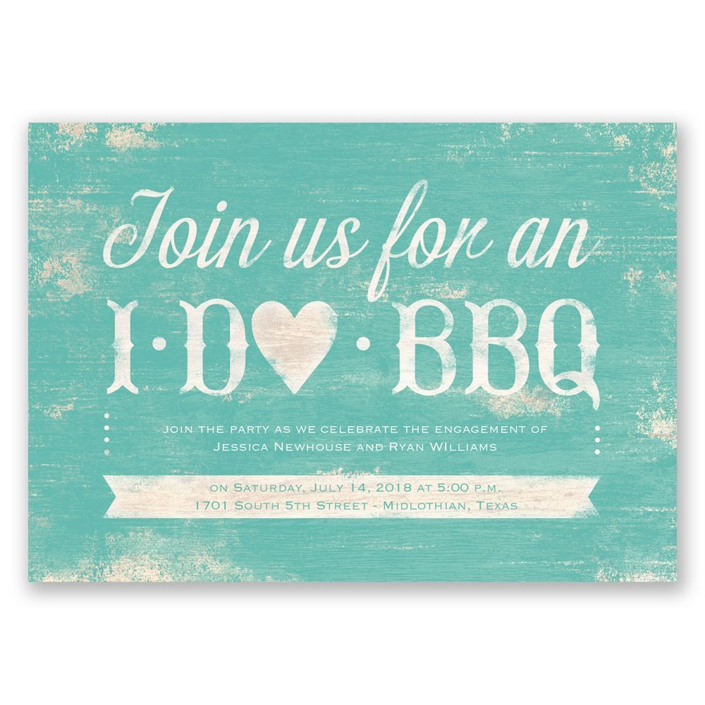 I Do BBQ - Engagement Party Invitation | Engagement party ...