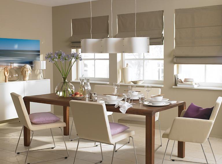 Farbkombis mit SCHÖNER WOHNEN-Farbe Dezent Nougat zu Violett und - moderne skulpturen wohnzimmer