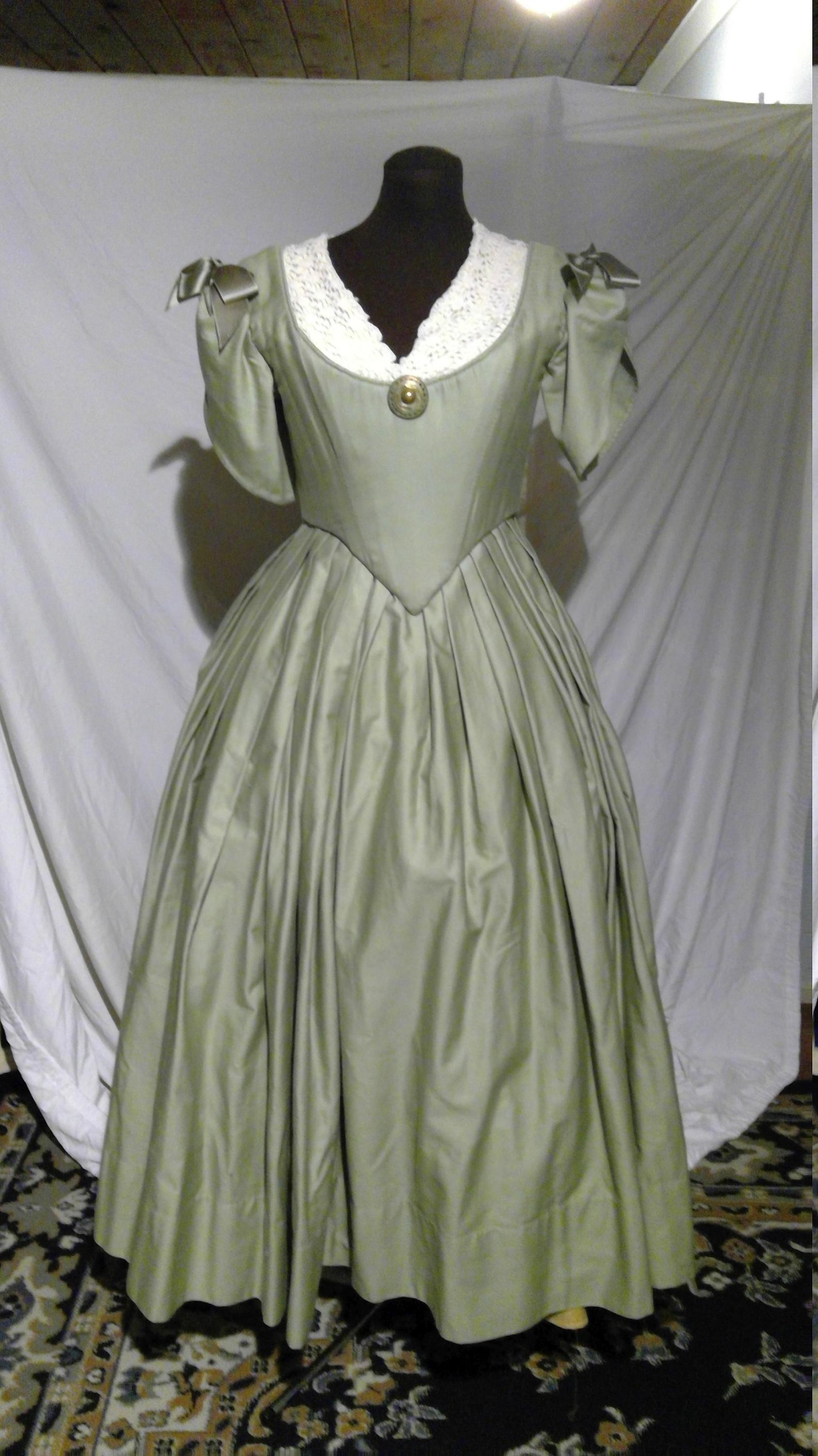1840s Ish Early Victorian Ball Gown Evening Dress Costume Etsy Victorian Ball Gown Ball Gowns Evening Dresses [ 1778 x 1000 Pixel ]