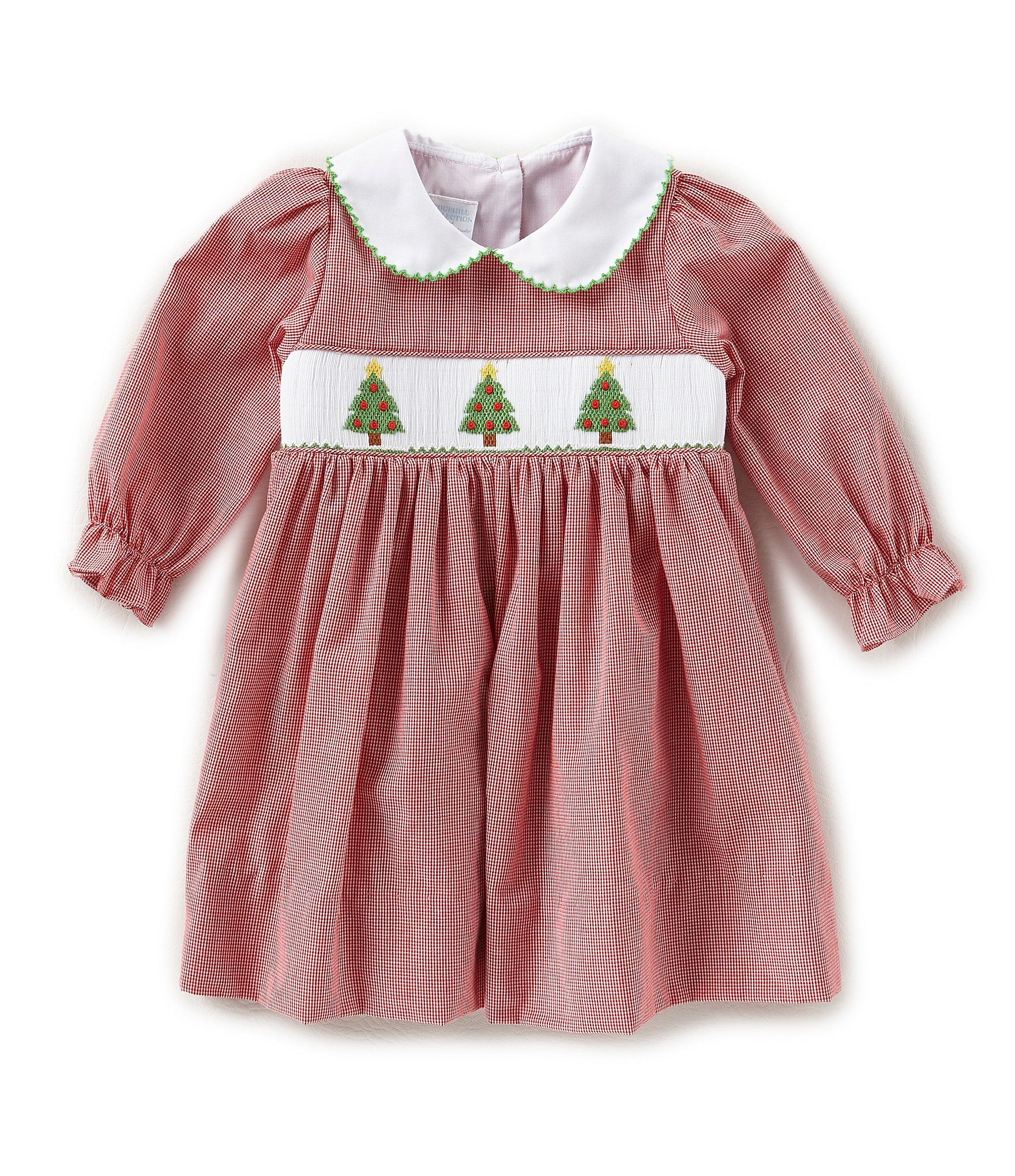 Edgehill Collection Baby Girls 3 24 Months Christmas Tree Smocked