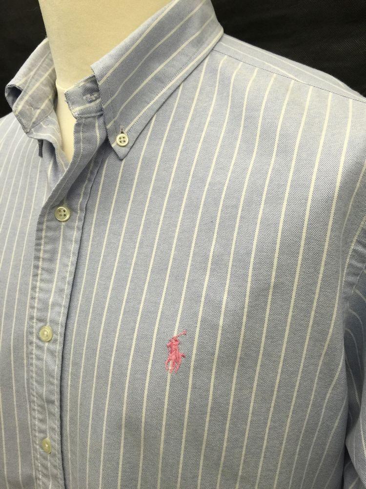 1a181955e4 ... australia polo ralphlauren mens shirt xl classic fit blue white bengal  striped 23729 f9be1