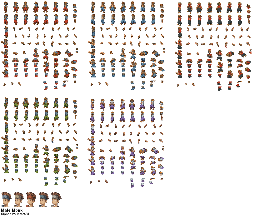 Final Fantasy Tactics - Monk (Male) | game sprites in 2019 | Final