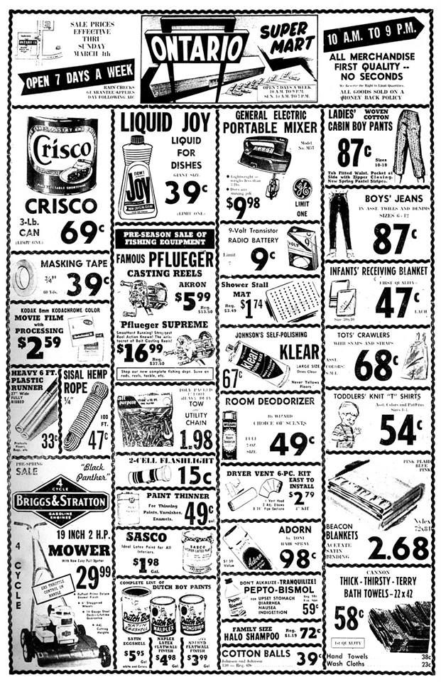 Ontario ad Vintage ads, Ontario, Ads
