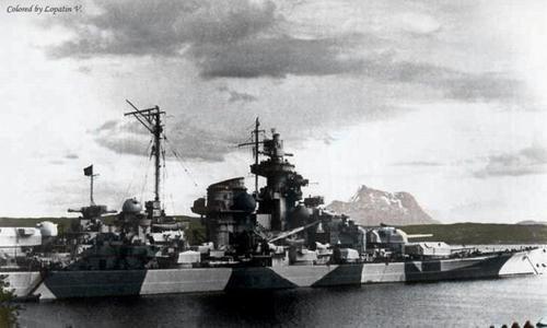 German Battleship Tirpitz.