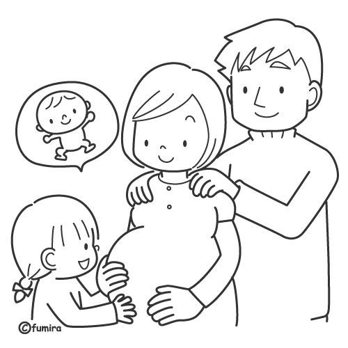 New baby is arriving free coloring page - prolife coloring page - best of coloring pages mom and daughter