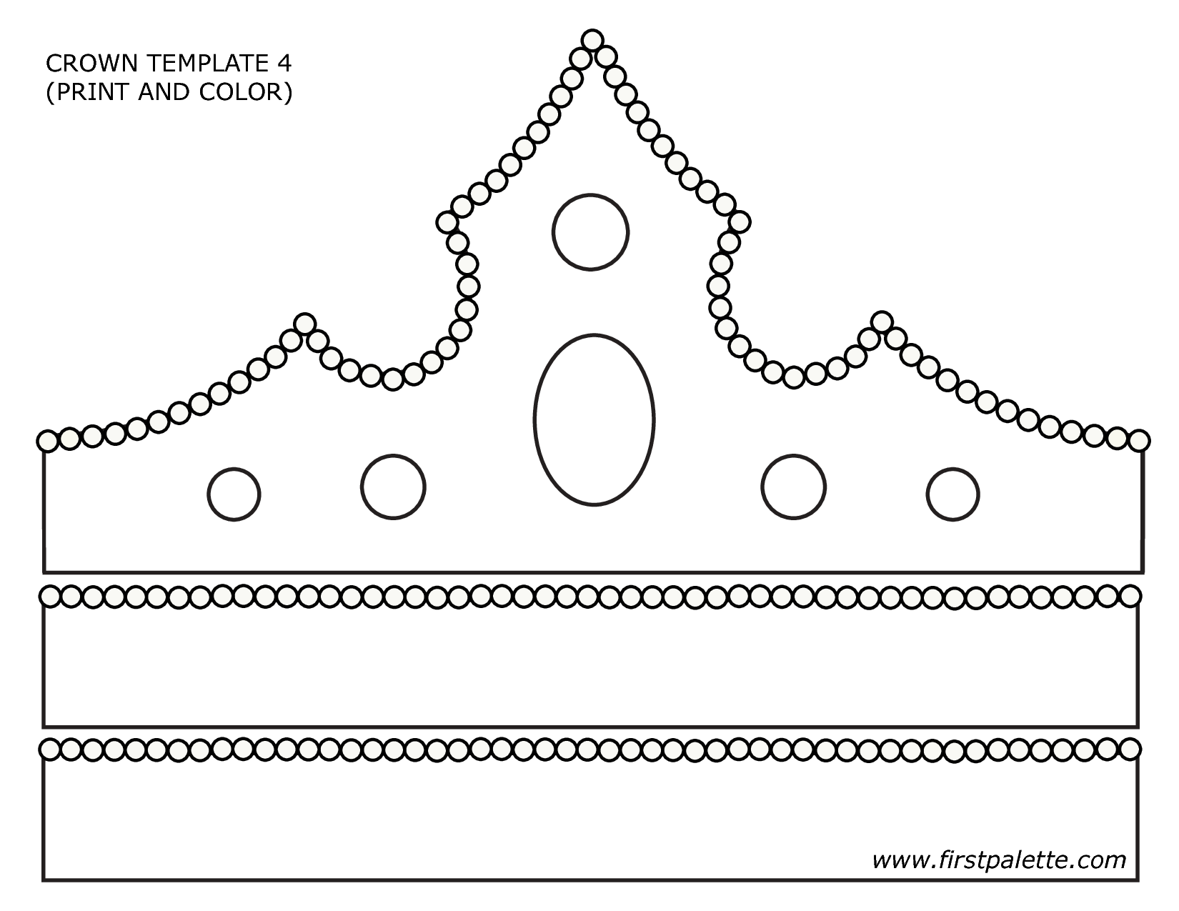 tiara template printable free - paper crown template google search primary pinterest