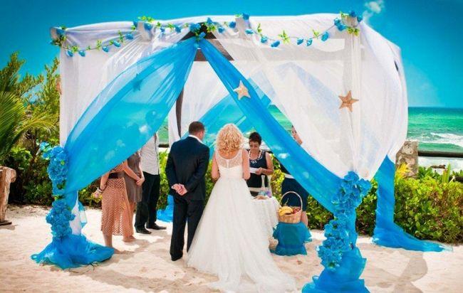 Idea for beach ceremony decor pergola in white and blue shannons wedding idea for beach ceremony decor pergola in white and blue junglespirit Choice Image