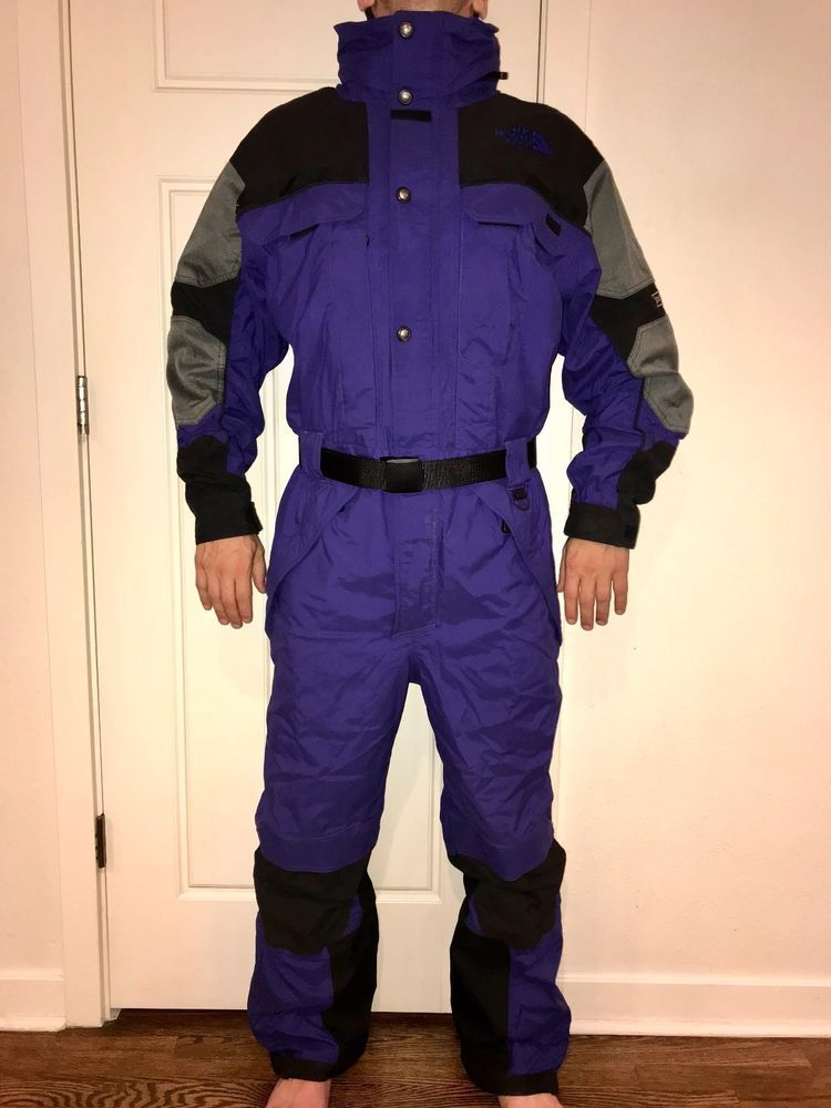 836a59caefdc THE NORTH FACE Extreme Gear Mens LARGE vtg One piece SKI SUIT Snow ...