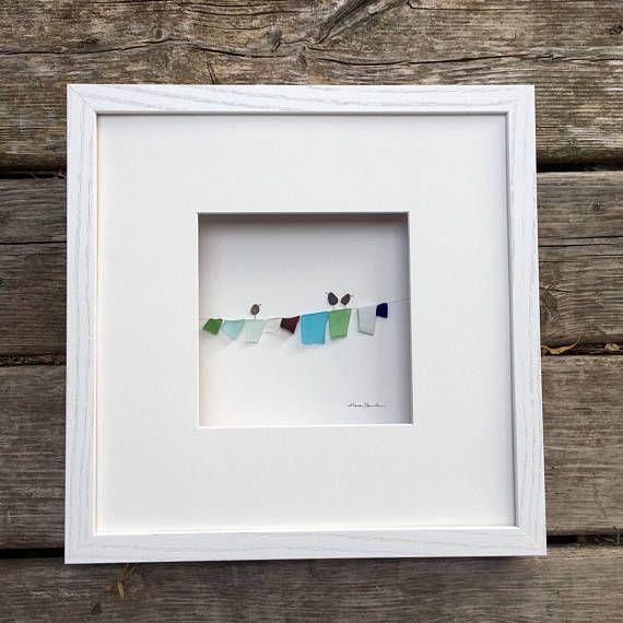 Pebble Art by Sharon Nowlan laundry clothesline pebble art | Kendin ...