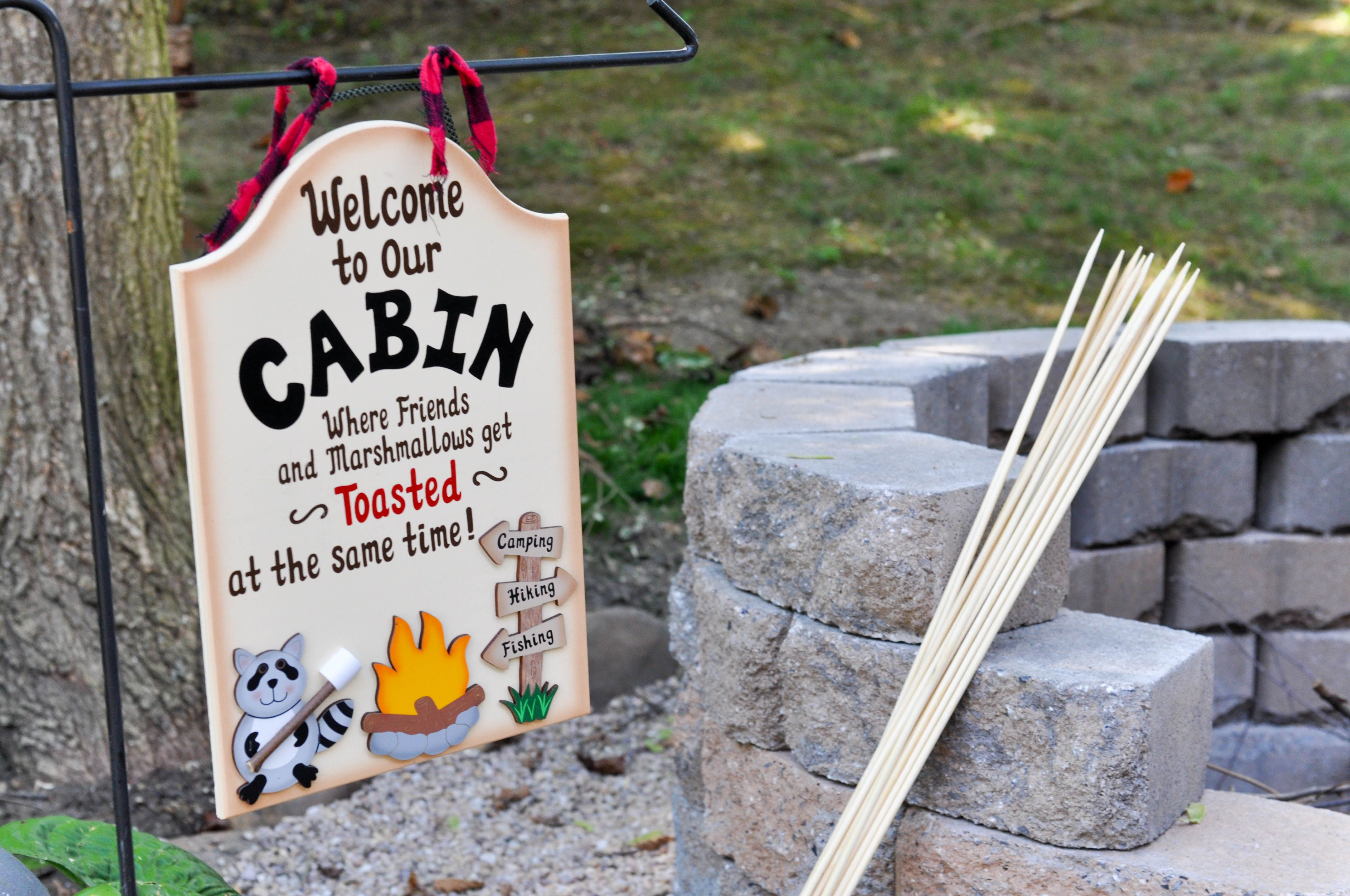 Backyard Camping Party Decorations Smores Kids Favors Brother Sister Ideas Not So Perfect