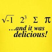 √-1 2³ Σ π - i 8 sum Pi  (I ate some pie) shirt
