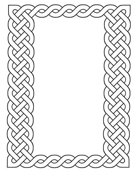 picture relating to Printable Celtic Knot Patterns named Printable Celtic Frames Celtic Knots Islamic Layouts