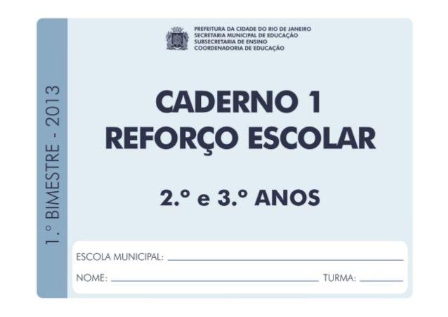 Caderno1 Reforco Escolar Com Imagens Projeto De Intervencao