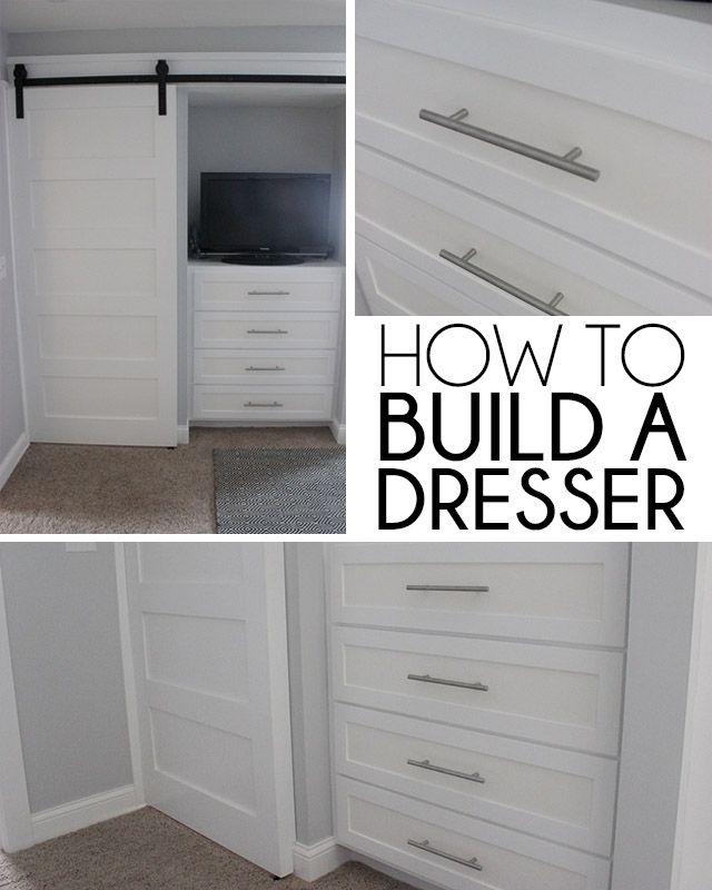 How To Build A Built In Dresser Door Over Closet Or Tv Love It