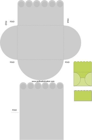 free template, scalloped card, scalloped envelope, invitation