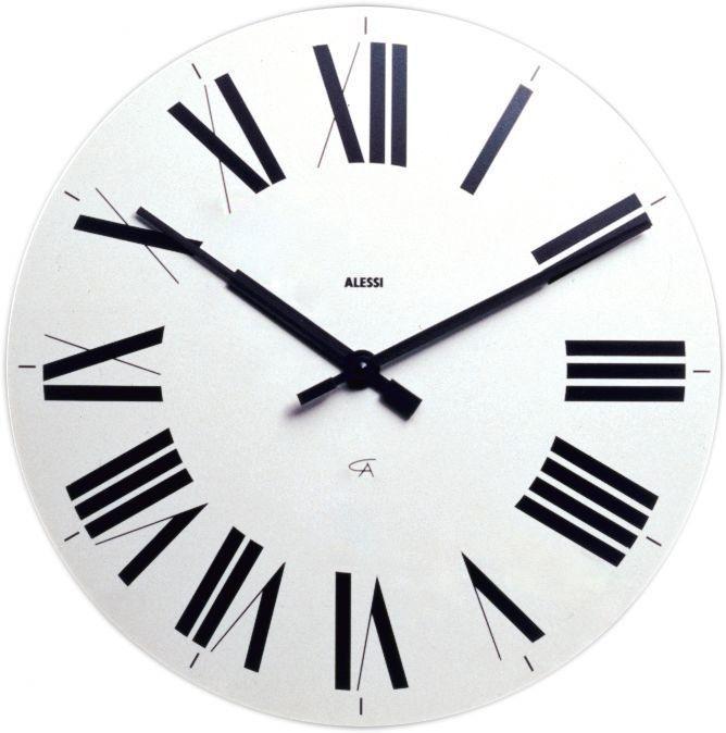 Alessi 14 17 Firenze Wall Clock In 2020 Black Wall Clock White Wall Clocks Roman Numeral Wall Clock