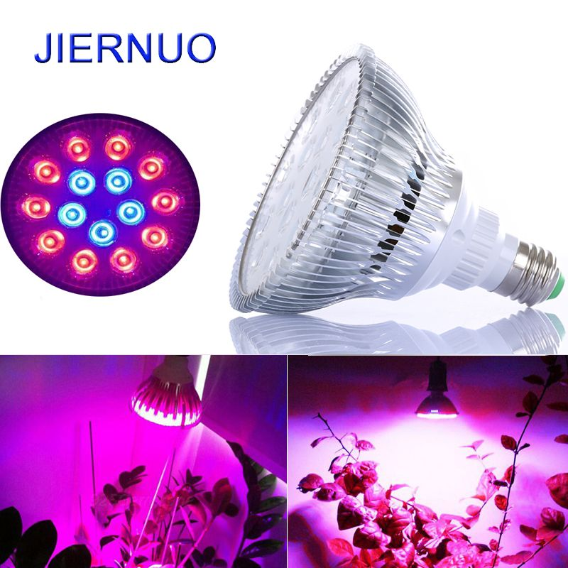 45w E27 Plant Light Spectrum 10red 5blue Led Growth Lamp For Flower Plant Hydroponics System Phrase Indoor Plant Lighting Hydroponics System Planting Flowers
