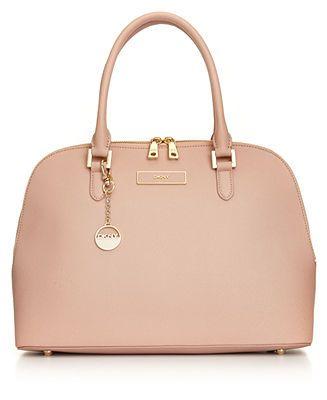 DKNY Handbag, Saffiano Round Satchel - All Handbags - Handbags & Accessories - Macy's