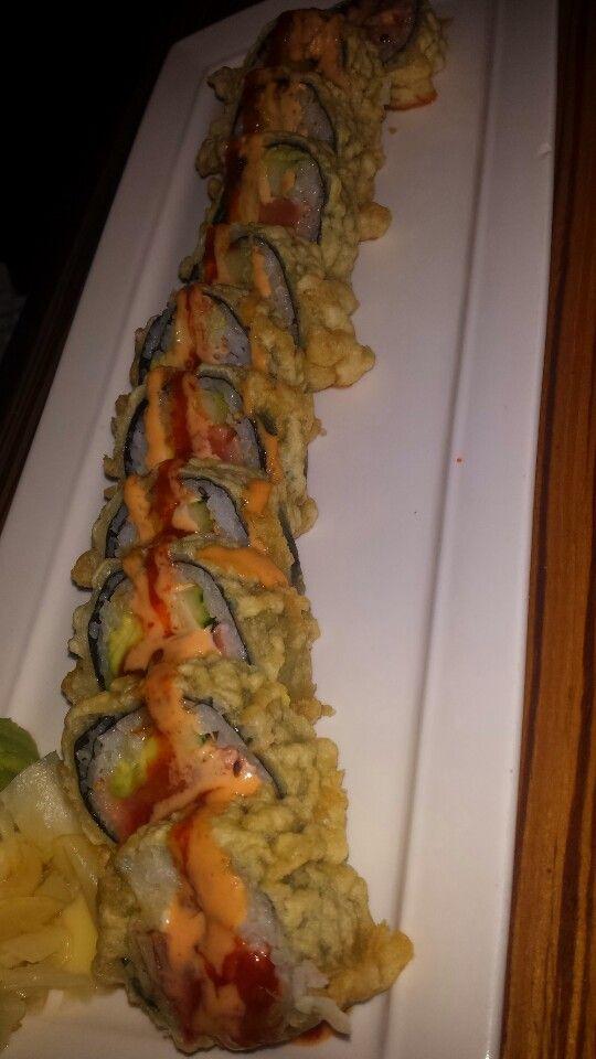Crunchy roll at Sushi Yama Boca Raton with Carolyn Boinis Boca Raton real estate broker www.CarolynBoinis.con