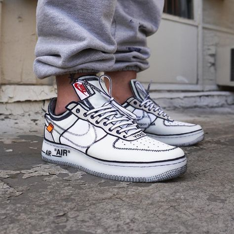 Are These Sketch Inspired Customs The Next Big Sneaker Craze    The Sole Supplier is part of Sneakers - Would you do this to your OFFWHITE Air Force 1's  When you spend all day going through Instagram looking at creps, it takes something special to truly