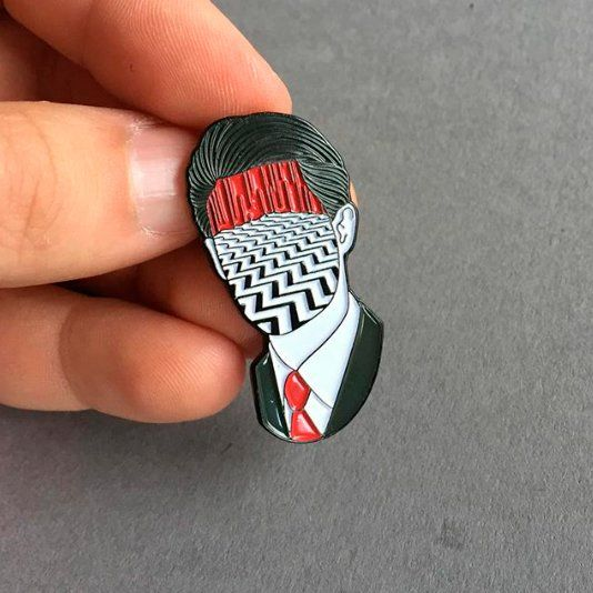 Coop pin | Cute pins, Twin peaks, Pin and patches
