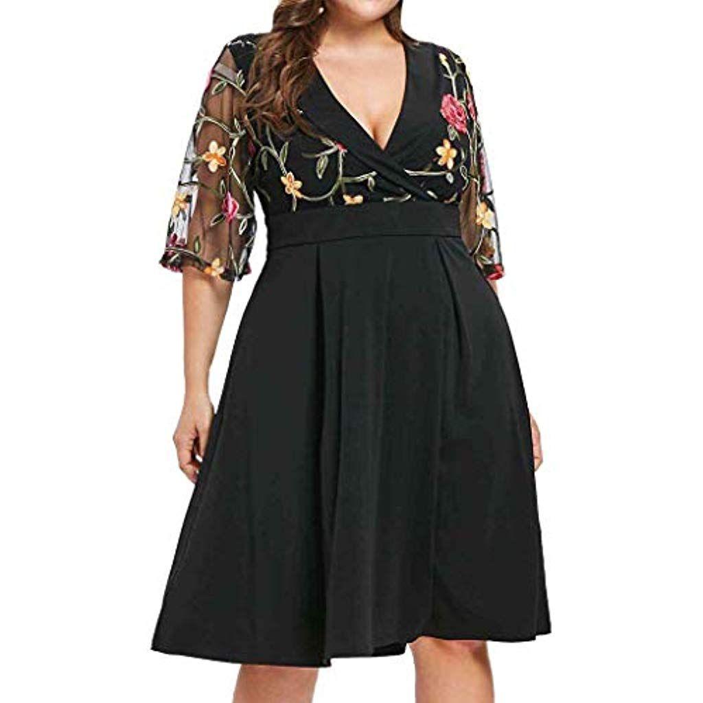 MAYOGO Damen Kleider Sommerkleid Damen Große Größen Elegant