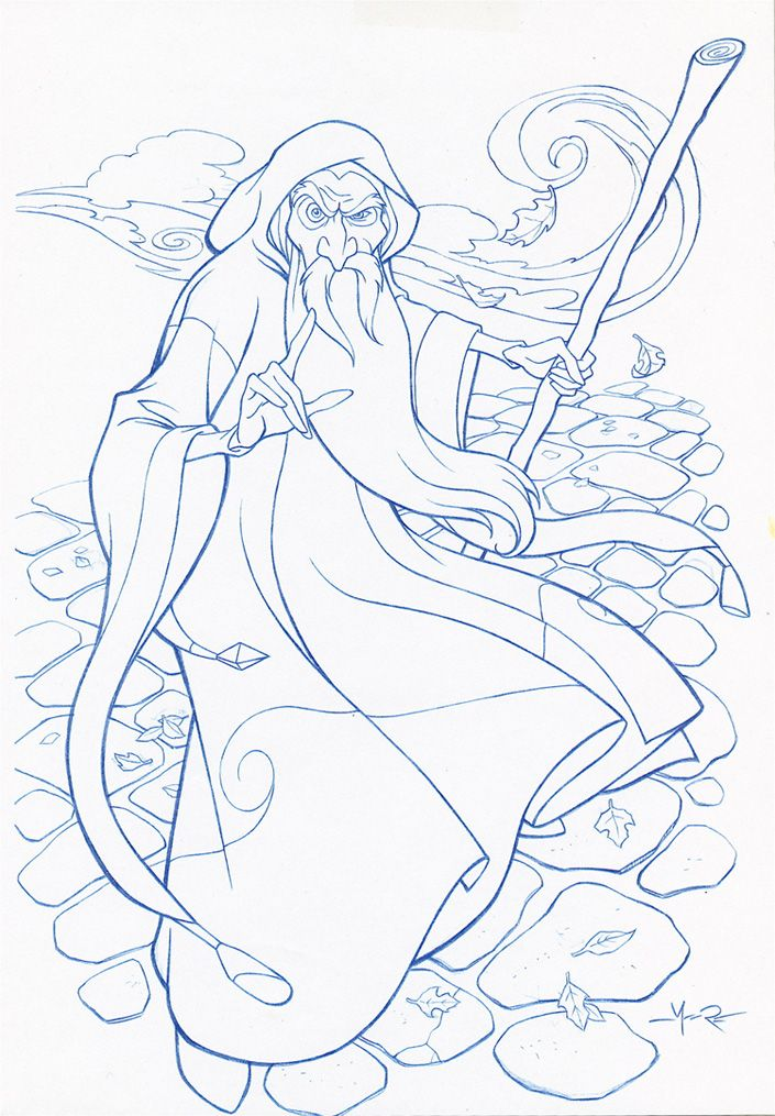 images of drawing and color Merlin the Wizard | MERLIN THE WIZARD by ...