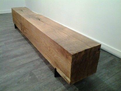 banc poutre ch ne massif meubles et rangements par elyte design com sur alittlemarket. Black Bedroom Furniture Sets. Home Design Ideas