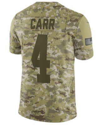 a4b442284 Nike Men s Derek Carr Oakland Raiders Salute To Service Jersey 2018 - Green  XXL