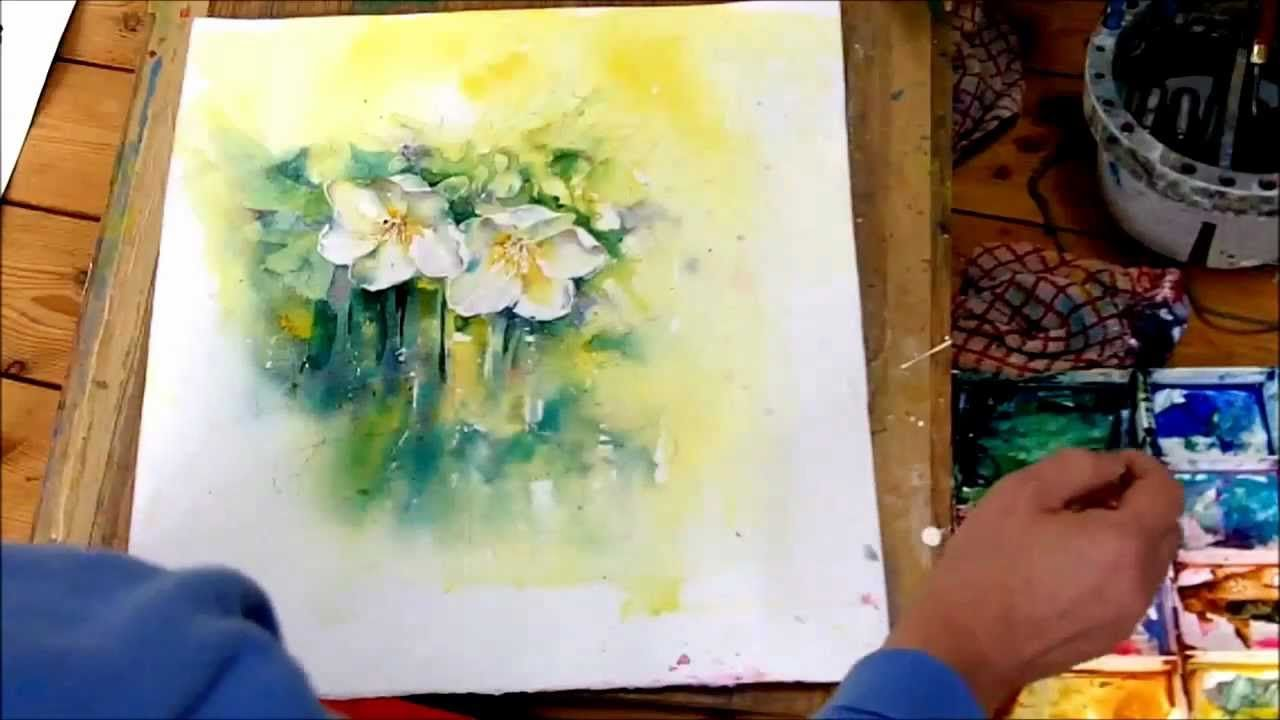 How To Paint White Flowers In Watercolour By Sheila Gill Part 2