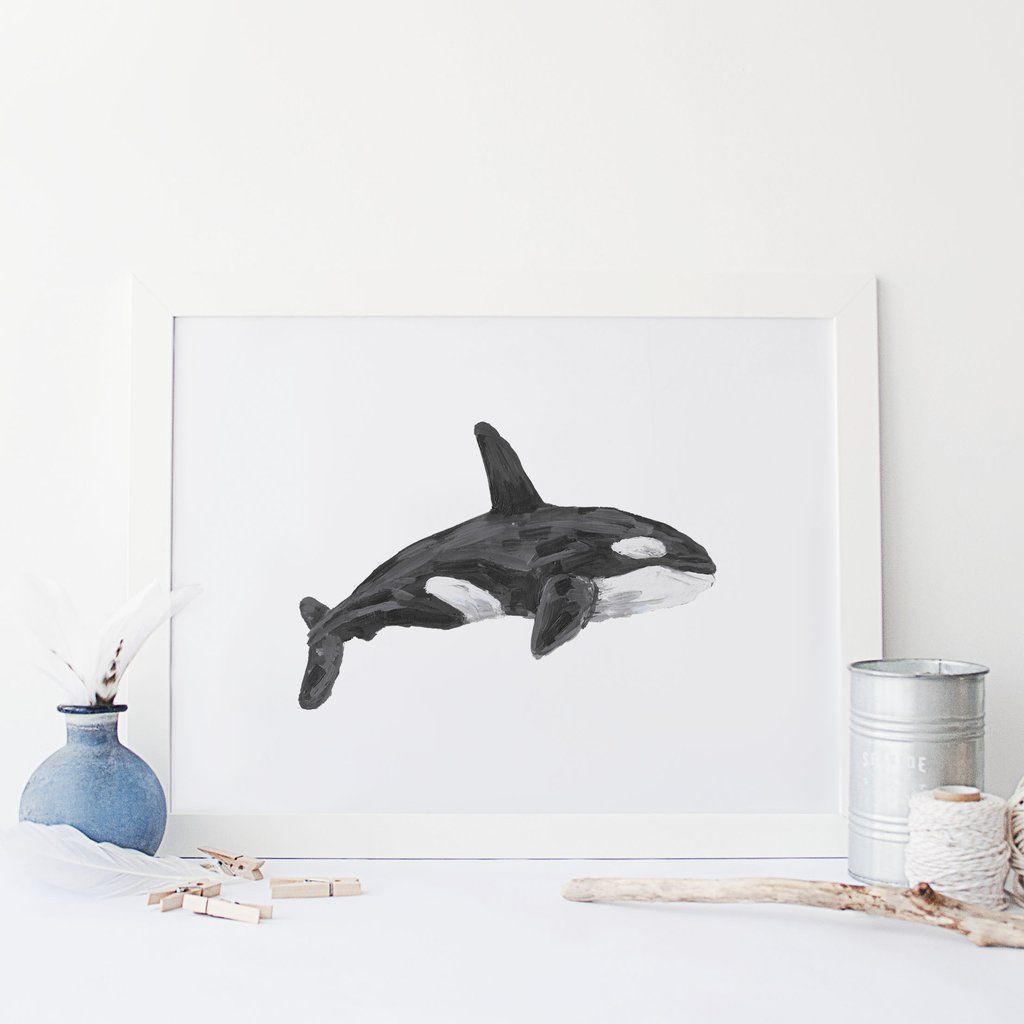 This Hand Painted Orca Whale Is The Perfect Addition To