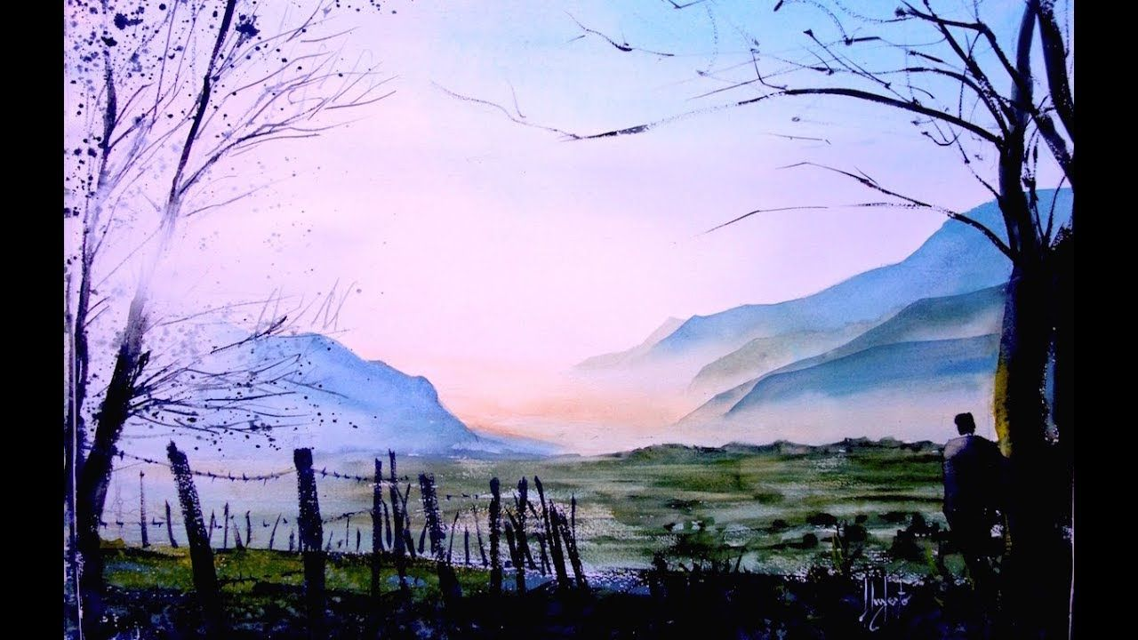 Youtube Watercolor Tutorial Umberto Rossini Landscape Sketch