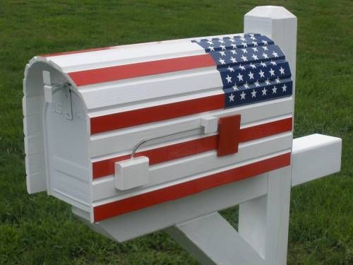 Rounded American Flag Mailbox Cover Displays Of Patriotism In All Forms Wooden Mailbox Custom Mailboxes Diy Mailbox