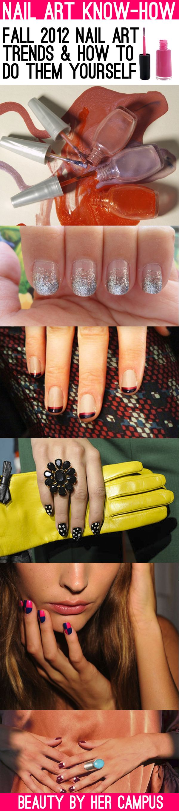 Nail Art Know-How: Fall 2012 Nail Art Trends & How To Do Them Yourself