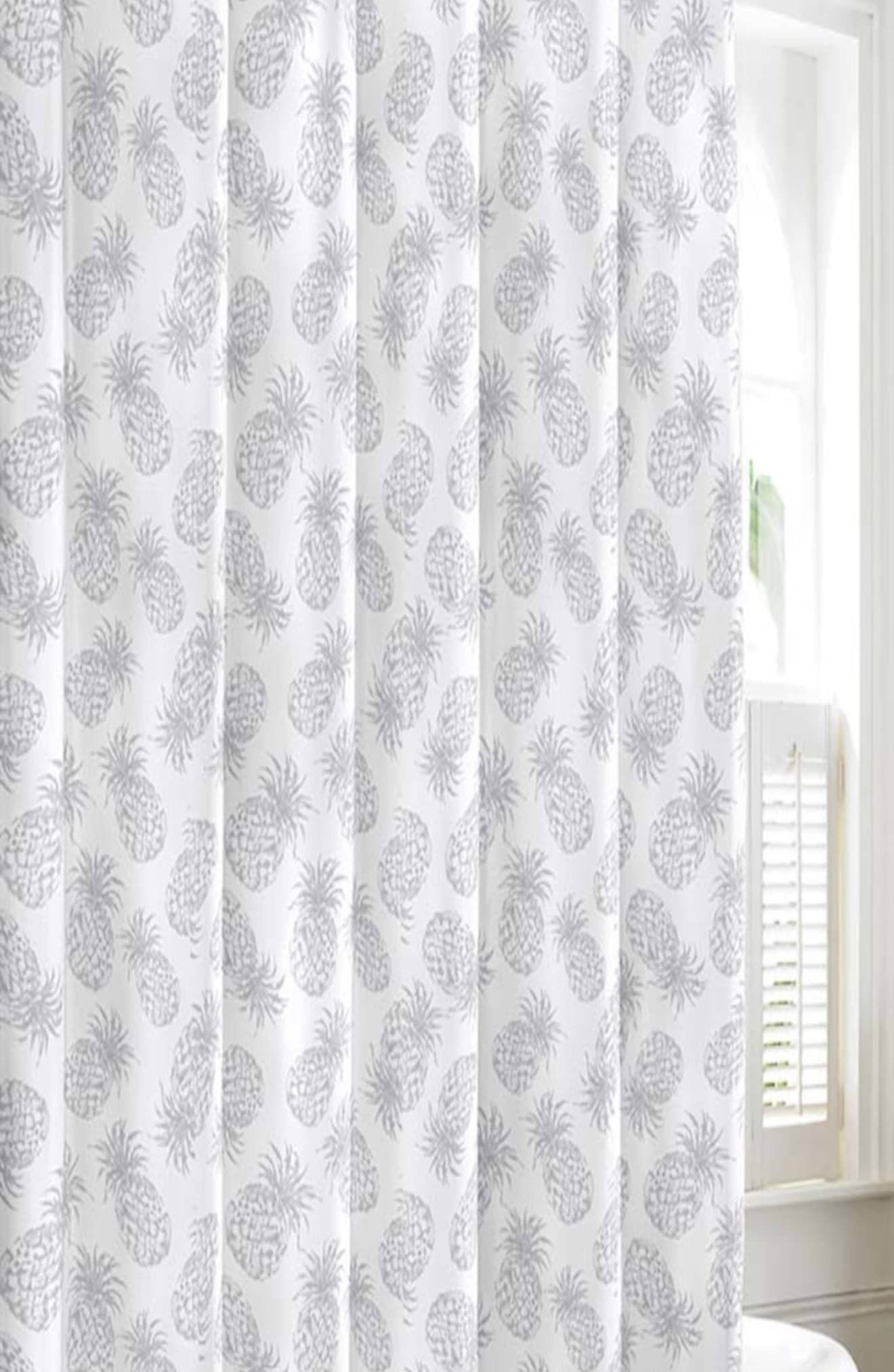 Tommy Bahama Pineapple Shower Curtain Size One Size Grey In