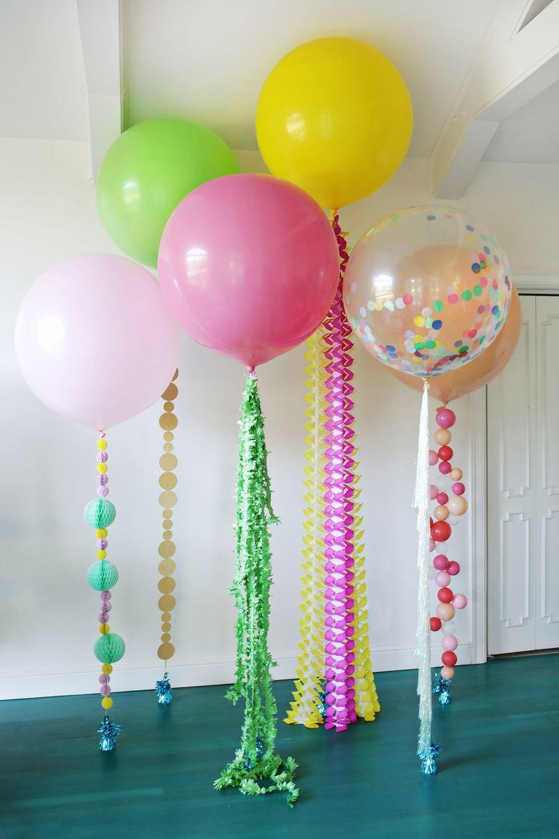 Gold Party Decor Balloon Fun Strings