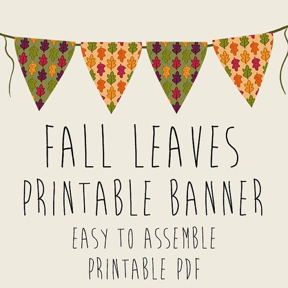 photo relating to Fall Banner Printable titled Tumble Leaves Autumn Bash Banner Printable PDFs via Galactytes